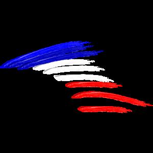 Frankreich Nationalflaggen Fahne Farben Kreativ
