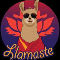 cooles Dalai Llama mit Sonnenbrille - lamaste Lama