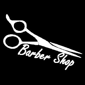Eine Schere aus Chrom im Barber Shop