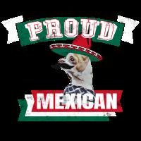 Mexikaner Stolz Chihuahua Mustache Geschenk Flagge