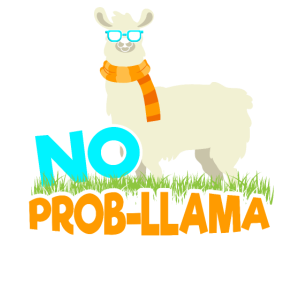 No Prob-Llama Llama Lama Alpaka Kamel Geschenk