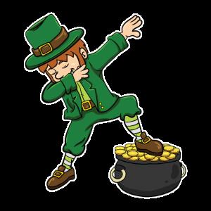 St. Patricks Day Leprechaun Dabbing Kobold Lustig