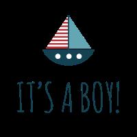 it s a boy boot blau