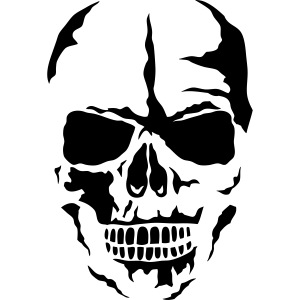 tete mort face skull dead 24