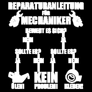 Mechaniker Arbeit T-Shirt Spruch Wartung Reparatur