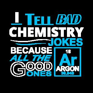 Ich erzähle schlechte Chemie-Witze