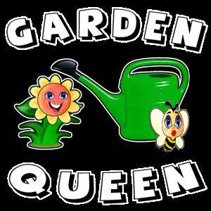 Gartenkönigin-T-Shirt, das Gartenarbeitt-shirt landschaftlich gestaltet