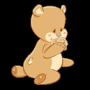 Teddy Bär Kekse Fantasy Baby KInder Tiere süß
