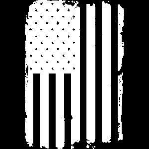 amerikanische Flagge in Weiss