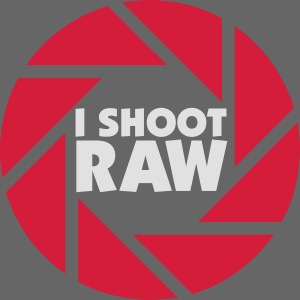 I shoot RAW - weiß