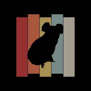 süßer Koala Koalabär Bär Zoo Fell Retro Geschenk
