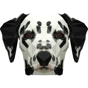 Dalmatiner Head Low Poly Gift