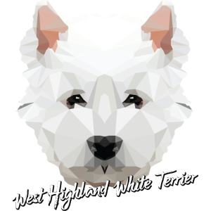 West Highland White Terrier Low Poly Gift