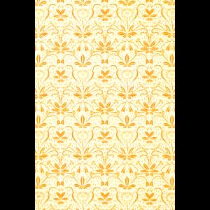 Blumen Muster Gelb