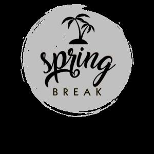 Spring break mit Palmen