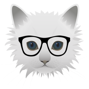 Katze mit Brille