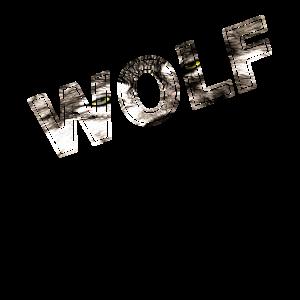 Wolf Schriftzug