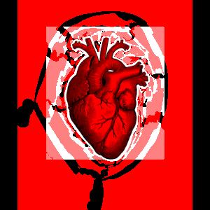 Retro viktorianisches Radierungsart-menschliches Herz