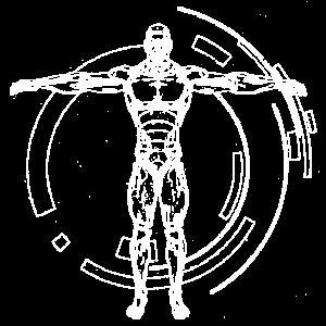 Menschlich in Weiß