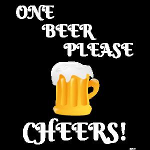 Ein Bier bitte jubelt lustiges Bier-Festival-T-Stück