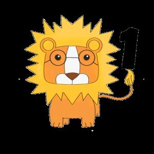 My first Birthday#Lion#Löwe#ones