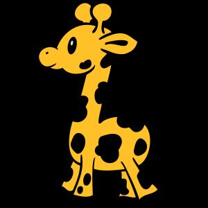 Giraffe farbig