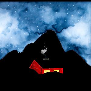 Haus im Schnee I Winter in den Bergen I Geschenk