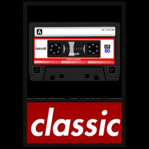 Musikkassette classic im used look