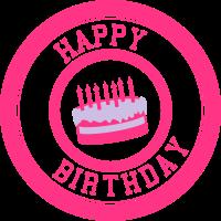 Happy Birthday / Herzlichen Glückwunsch / Torte