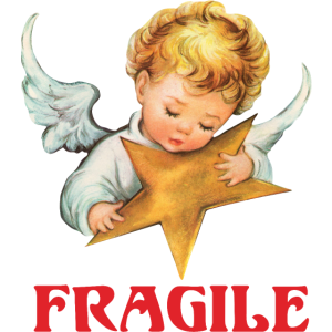 Fragile Angel Wings Graphic