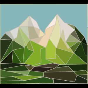 Berge Mountains Alpen Gebirgslandschaft Geometrie