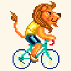 CYCLING LION / LEONE CICLISTA / RADELNDER LÖWE