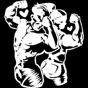 fitness paar muskeln herz
