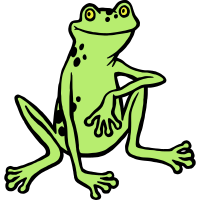 sitzender Frosch, Dreifarbdruck