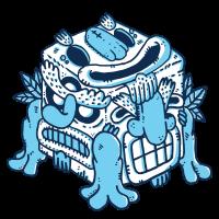 Inka Totem Cartoon Geschenk