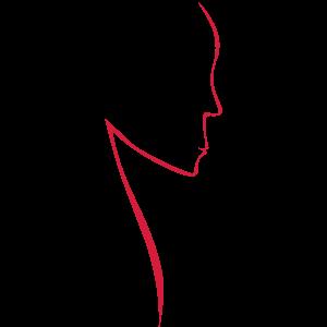Silhouette eines Frauenkopfs