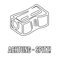 Anspitzer Achtung spitz