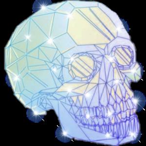 Totenkopf Schädel Kristall