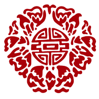 China Ornament, rot