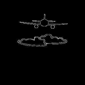 Pilot Flugzeug Plane Fliegen über den Wolken