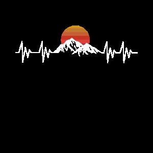 Heartbeat Berge - Herzschlag Wanderer T-Shirt