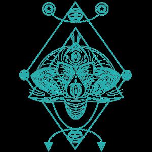 Geometrie Ornament Illustration blau