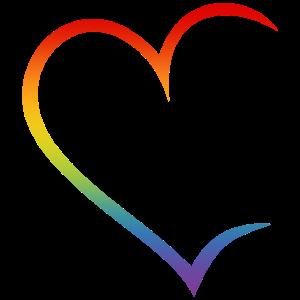 Herz offen Regenbogen LGBT Liebe Paare