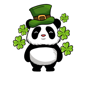 St Patricks Day Panda Bear Ireland Drunk Paddy