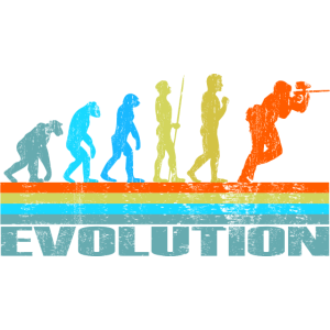 Paintball Evolution Retro Geschenk
