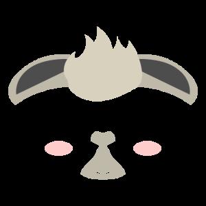 Süßes Kinder Lama Gesicht