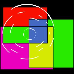 Farben Quadrate Bunt Zielscheibe Kunst Abstrakt