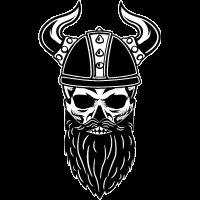 Bart Skull Wikinger Totenkopf Schädel Bärte Viking