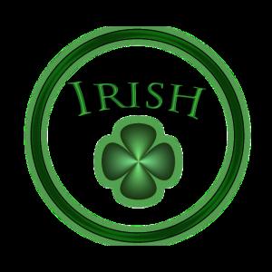 Irish Kreis mit grünem Kleeblatt