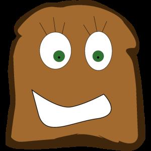 Toastbrot mit lächeln